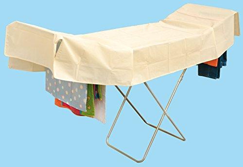 Toalla Copribucato, toalla para la colada, toalla Protector de ropa, toalla tendedero, toalla copristendino Mis. 250x 110cm, toalla ripara lluvia universal, col. MARFIL, impermeable, transpirable Art.280