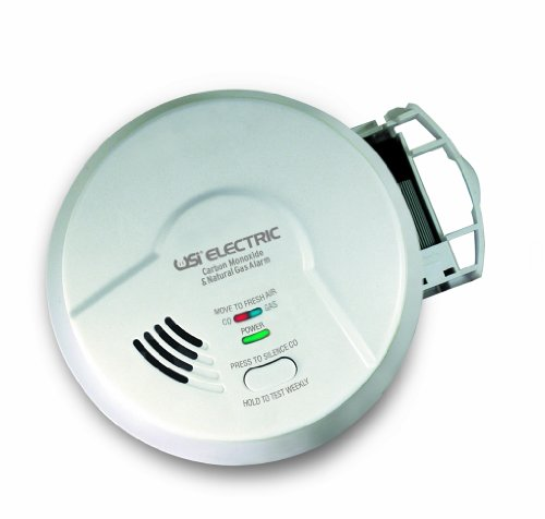 Universal Security Instruments Hardwired 2-in-1 Carbon Monoxide & Natural Gas Smart Alarm with Battery Backup, Model MCN108