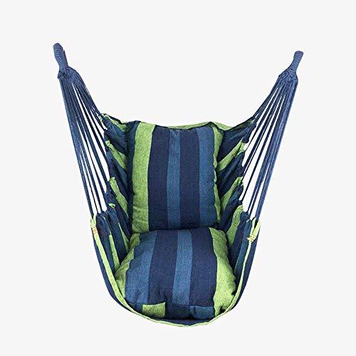 Wenzy Draagbare hangstoel, draagkracht, 200 kg, met 2 kussens en opbergtas, voor buiten, binnen, terras, tuin, verschillende kleuren