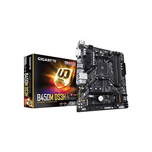 Gigabyte B450M DS3H Scheda Madre, Socket AM4,...