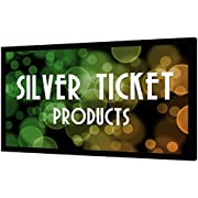 """Silver Ticket Products STR Series 6 Piece Home Theater Fixed Frame 4K / 8K Ultra HD, HDTV, HDR & Active 3D Movie Projection Screen, 16:9 Format, 110"""" Diagonal, White Material STR-169110"""