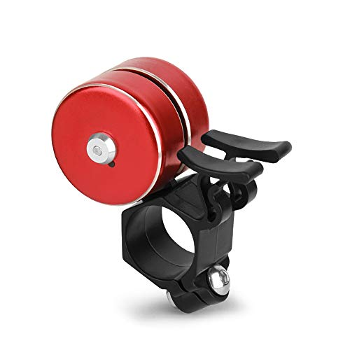 Bike Bell, Aluminum Alloy Bicycle Bell, Mini Double Bell Ring, Loud & Clear Crisp Sound Bell for All Types of Bike - Multiple Colour red - Double Bell