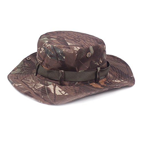 Demarkt Tropenhoed badhoed ronde hoed met kinband militair leger zonnehoed zonwering hoed heren katoen stijl E