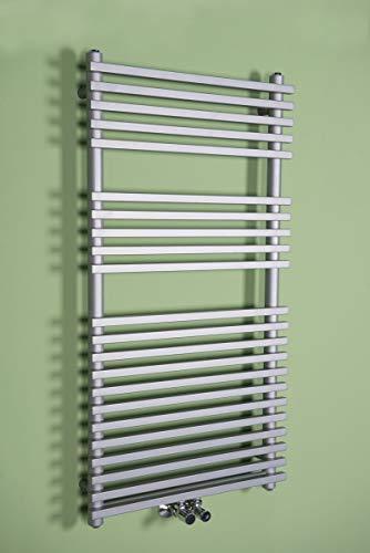 Wärmehaus Handtuchheizkörper Badheizkörper Handtuchwärmer 1200x500mm Silber gerade