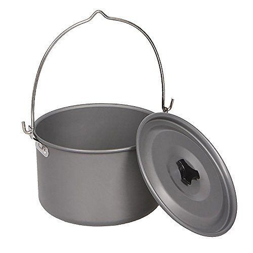 MyLifeUNIT Camping Pot Cookware, Portable Cooking Pot for Outdoor Camping Hiking, 5-Quart