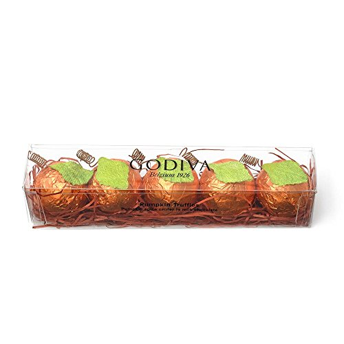Godiva Chocolatier Foil Wrapped Pumpkin Spice Chocolate Truffle Flight, Great for Gifting