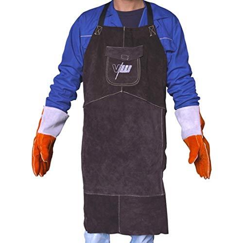 Schweißerschürze Schutzkleidung Echt-Leder für WIG/MIG/MAG/MMA/Plasma Schweißarbeiten von Vector Welding