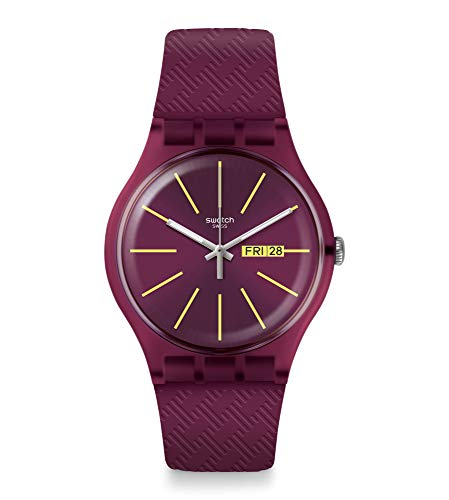 Swatch Reloj Analógico para Hombre de Cuarzo Suizo con Correa en Silicona SUOR709