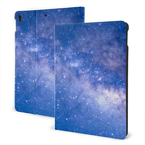 Ipad Case Beautiful Milkyway Galaxy Night Slim Stand Smart Protective Cover Case for Ipad 7th Gen 10.2inch,auto Wake/Sleep Cover