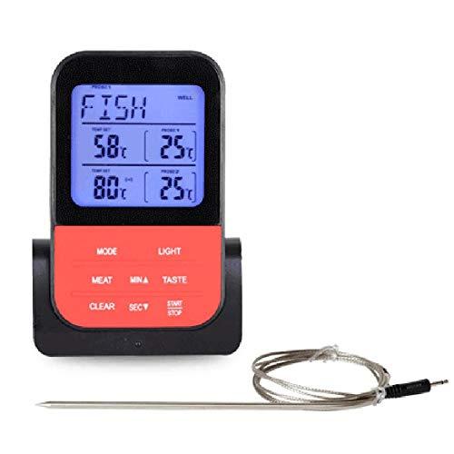 Dual Probe Digital Kochfleisch Thermometer Großes LCD Digital Food Grill Thermometer Für Raucher Küchenofen Grill Raucher Grill Raucher Fleisch Backen Süßigkeiten Machen