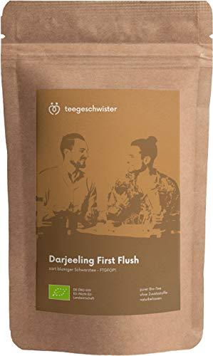 teegeschwister® | BIO Schwarzer Tee Darjeeling First Flush FTGFOP1 | loser premium Schwarztee aus dem Himalaya