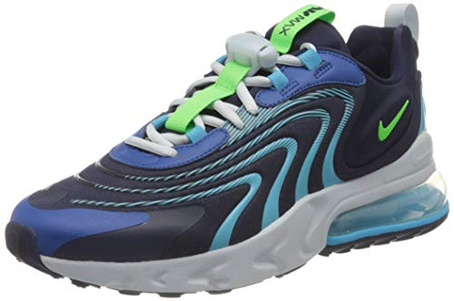 Nike Air Max 270 React ENG, Scarpe da Corsa Uomo, Nero (Blackened Blue/Green Strike), 44.5 EU