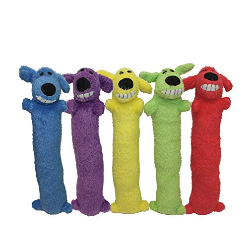 Multipet Loofa Dog 18' Plush Dog Toy, Colors May Vary (1 each)