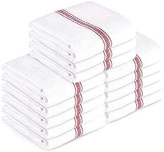 AMA's Kitchen Kitchen Towels Dish Towels (13 Pack) Tea Towels 100 Percent Cotton Dish Cloths Red and White Dish Towels (15 x 25 Inch) Machine Washable