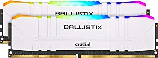 Crucial Ballistix Gaming Memory, 2x8GB (16GB Kit) DDR4 3600MT/s CL16 Unbuffered DIMM 288pin White RGB, (PC4-19200), DDR4, BL2K8G36C16U4WL, Standard RGB: 16GB (8GBx2) (B083VN3YFH) | Amazon price tracker / tracking, Amazon price history charts, Amazon price watches, Amazon price drop alerts