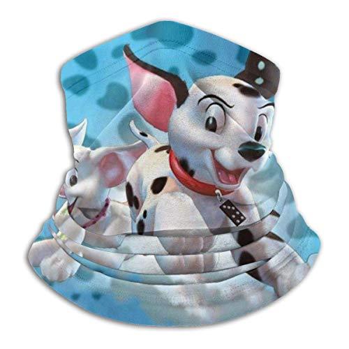 XCNGG 101 Dalmatiner Serie Gesichtsschutz Schal Bandanas Piraten Style Cap Bandanas Hals Gamasche Kopfbedeckung für Outdoor-Sport Camping Schwarz
