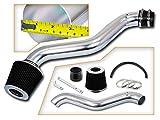 Rtunes Racing Short Ram Air Intake Kit + Filter Combo BLACK Compatible For 97-01 Honda Prelude / 98-02 Honda Accord L4 …