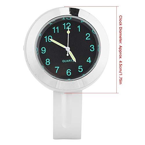 Tenpac Reloj de Montaje en Manillar de 22/25 mm, Reloj de Montaje en Manillar de Motocicleta, Bicicleta Motocicleta para manillares de 22 mm (0,9 pulg.) / 25 mm (1 pulg.)(Silver Plating)