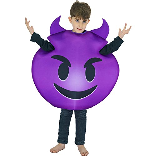 SEA HARE Disfraz de Demonio Emoticon para niño Unisex (Talla única)