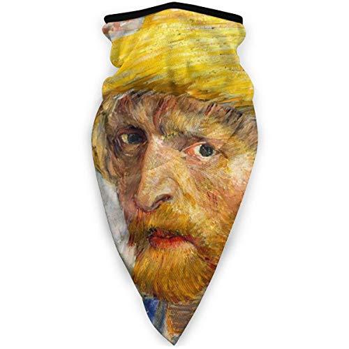Tzshak Van Gogh Portrait écharpe Coupe-Vent Jaune Masque Facial Masque Anti-poussière Lavable Cagoule Bandana