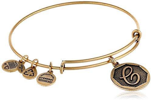 Alex and Ani Rafaelian Gold-Tone Initial 'C' Expandable Wire Bangle Bracelet, 2.5'