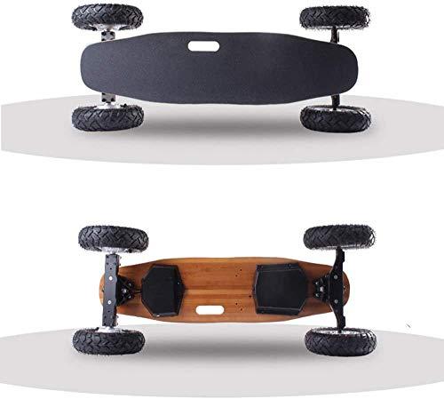NOBRAND Draadloze Afstandsbediening Elektrische Board, Draagbare Mini Elektrische Skateboard Skateboard met Draadloze Afstandsbediening, Off-Road Elektrische Skateboard, Maple Longboard