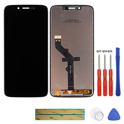 swark LCD Display Kompatibel mit Motorola Moto G7 Play XT1952 Schwarz (ohne Rahmen) Touchscreen Bildschirm Digitizer Assembly Glas + Tools