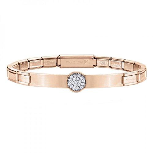 Nomination Damen-Armband Trendsetter Edelstahl Zirkonia weiß Brillantschliff 18 cm - 021121/022