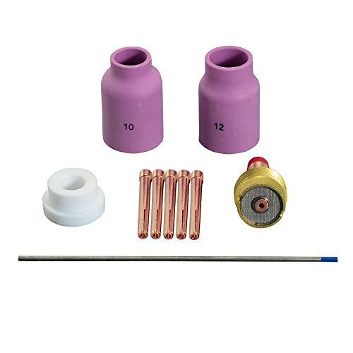 TIG Gas Lens 45V64 53N88 54N63 2% Tungsteno lantanado para WP-17 WP-18 WP-26 Antorcha 10PK