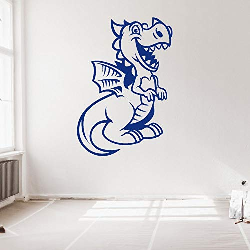 Niedlicher Drache Wandaufkleber mit Flügeln Kinderzimmer und Spielzimmer Wandkunst Dekoration Kinderzimmer Film Tier Dinosaurier Anime Cartoon 57x80cm