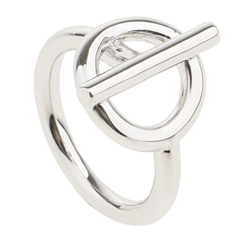 Fenteer 1 Stück Damen Schal Schnalle Schalring Clip Tuchring Tuchbrosche Perle Brosche Schmuck - Silber