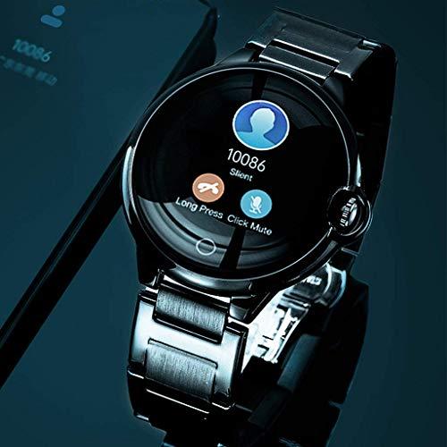 JIAJBG Reloj Inteligente de Moda para Teléfonos Android Y Compatible con Iphone, Ip67 Impermeable de Los Relojes para Mujeres de Los Hombres con Monitor de Presión Arterial, Ritmo C