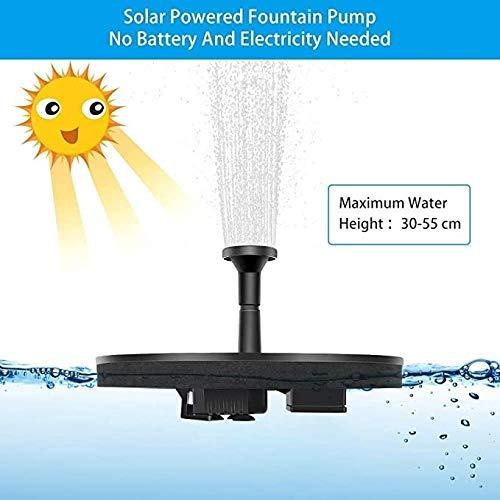 HZWLF Teichgarten Solarbrunnenpumpe 1,6 W Vogelbad Einstellbarer Wasserdurchfluss Sprinklerfilter Vogelbad im Freien, Pool, Aquarium, Terrassendekoration