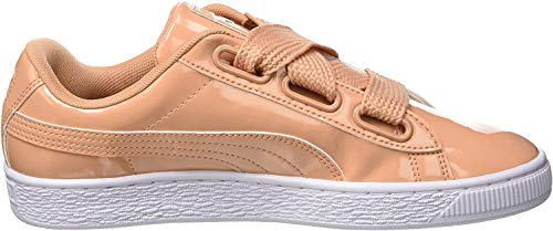 PUMA Damen Basket Heart Patent Sneaker, Orange (Dusty Coral-Dusty Coral), 39 EU