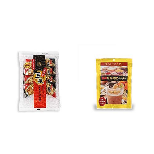 [2点セット] 飛騨銘菓「打保屋」の駄菓子 豆板(8枚入) ・醗酵焙煎雑穀パウダー MISUKARU(ミスカル)(200g)