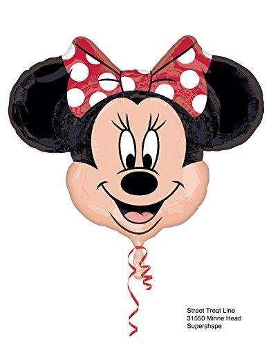 Ballonim® Minnie Mouse Kopf ca. 80cm Luftballons Folienballon Party DekorationGeburtstag