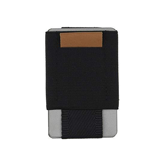 Super Schlanke Elastische Kartenhalter Kreditkartenetui Minimalistischen Brieftasche Leder Münzen Geldbörse Für Männer Frauen Tasche Männer Brieftaschen