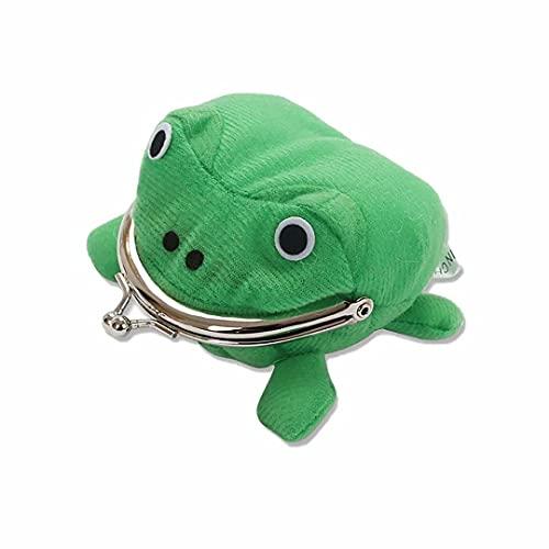 TTIANN Frosch Geldbörse Geldbörse Cosplay Anime Plüsch Frosch Geldbörse Grün Cartoon Plüsch Frosch Geldbeutel Tier Frosch Münztasche mit Schlossschlüssel Kreditkartenhalter Neuheit Spielzeug Geschenk