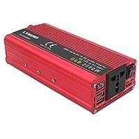 家庭用パワーインバーター1200W / 1500W / 2000W / 2200W / 2600W DC12VからAC220VデュアルUSBポートとスマートデジタルディスプレイを備えた、緊急用の修正正,24v,2000W