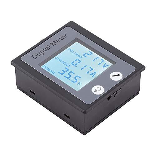 Multímetro Digital AC,Amperímetro 10A Voltímetro 80V a 260V,Medidor de Potencia,2.2kW,Pantalla LCD,Probador para Probar Corriente,Voltaje, Potencia y Energía