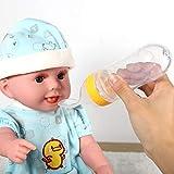 Biberón sin BPA, biberón para bebés, alimentador de alimentos de resistencia a altas temperaturas, para exteriores para bebés(yellow)