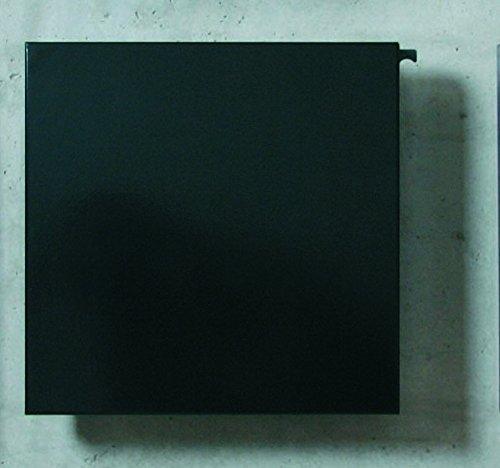 Serafini Briefkasten Square tiefschwarz quadratisch 36 x 36 x 10 cm Postkasten Wandbriefkasten