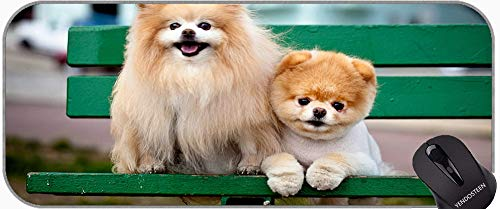 Langes XXL Mousepad, glückliche englische Bulldogge Welpen Boo Hund rutschfeste Gummi Base Mousepad