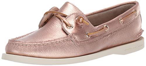Sperry Women's A/O Vida Metallic Boat Shoe, Rose Gold, 11