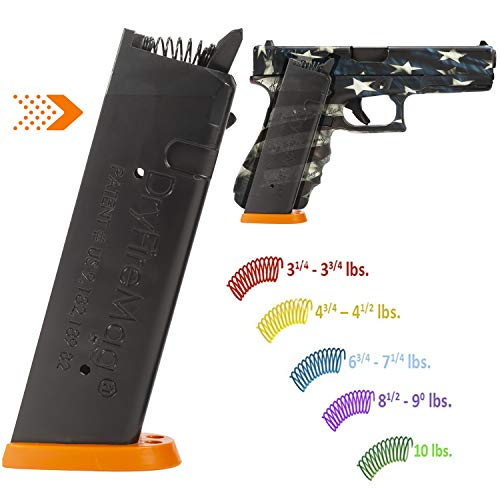 DRYFIREMAG Training Magazine with Spring Pak for Glock 9, 40, 357, 45 G.A.P Dry Fire Training...