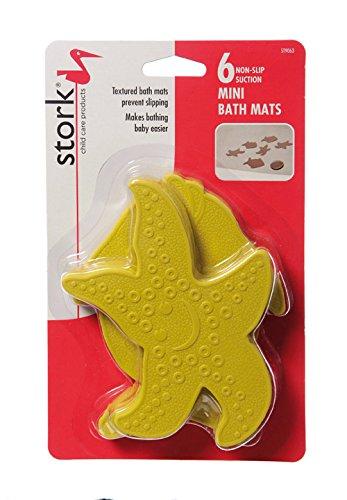 Stork Child Care Mini Bath Non-Slip Suction Mats (6 Pack)