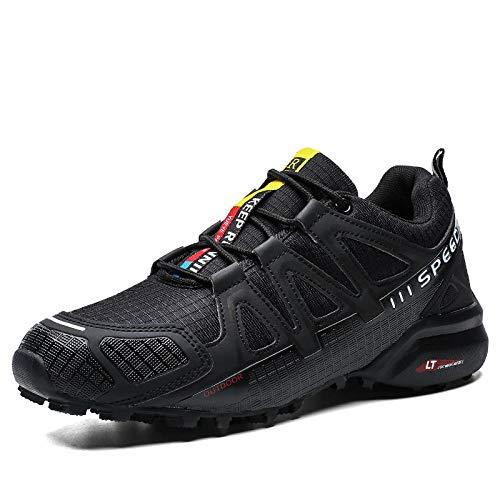 Gym Shoes Lightweight Shoes,Botas de montaña Deportivas,Zapatos Deportivos de Gran tamaño para Exteriores.Zapatos para Caminar.Zapatos Deportivos-Black_44#