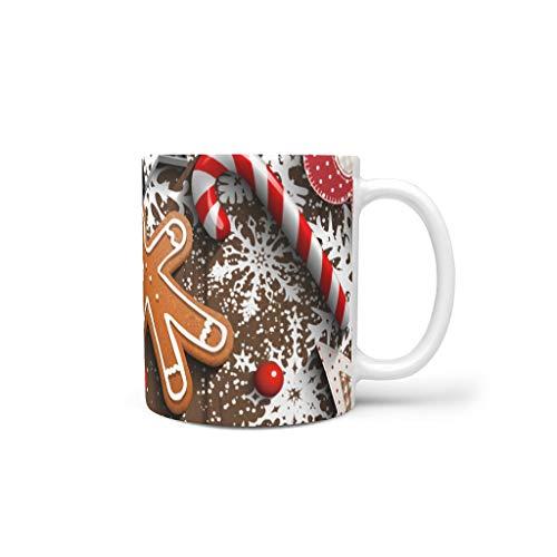 Generic Branded Tazas de café de cerámica de primera calidad, estilo retro, modernas, aptas para oficina, regalo de cumpleaños, color blanco, 330 ml