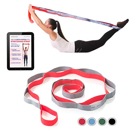 sport2people Stretch Out Strap - Yoga Belt - Stretching Exercise Band...