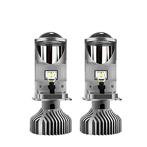 WXDD YISHENGDA Car Headlight Bulb 90W/Dual Lamp H4 LED Projector Lens Car Bulb 20000LM Conversion Kit High/Low Beam Headlight 12V24V RHD LHD (Emitting Color : Silver 2pcs, Lumens : Right-Hand Drive)